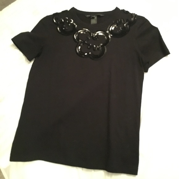 7d0ab87a Marc By Marc Jacobs Tops | Sequined Embellished Tee As Xs | Poshmark